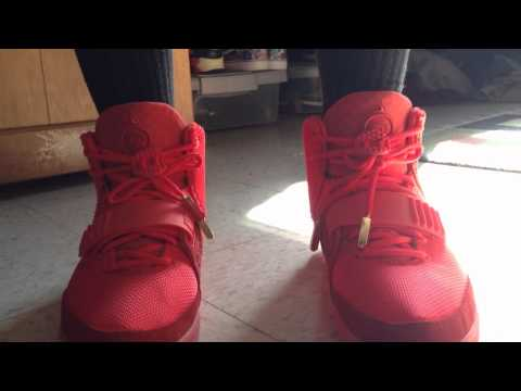 """Nike Air Yeezy 2 """"Red October"""" On Feet"""