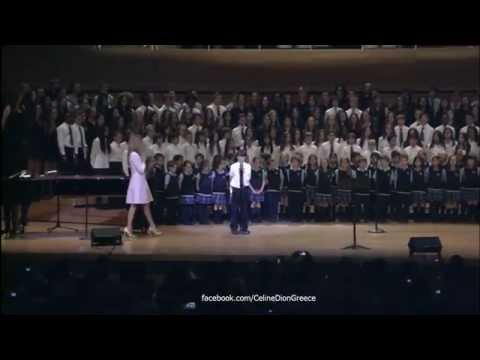 Celine Dion - S'il Suffisait D'aimer (Backstage with Choirs in Heart 16/7/2014)