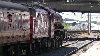 LMS Jubilee class 45699 Galatea at Settle & Carlisle 18-06-14