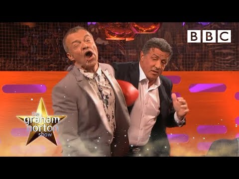 Sylvester Stallone punches Graham - The Graham Norton Show: Series 14 Episode 11 Preview - BBC One