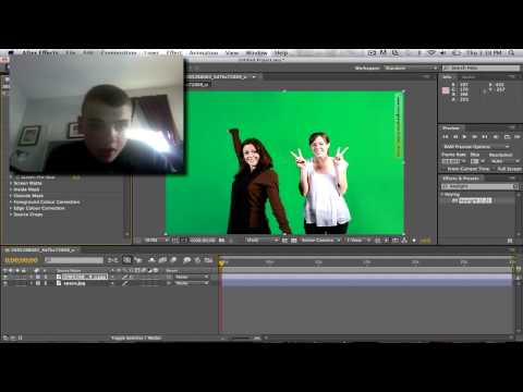 How To Do A Key Or Green Screen Effect In Adobe After Effects CS6 ...