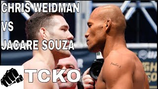 UFC 230: Chris Weidman Vs Ronaldo 'Jacare' Souza Prediction and Analysis