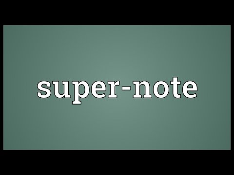 Header of Super-Note
