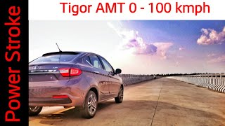Tata Tigor AMT | 0 - 100 Performance