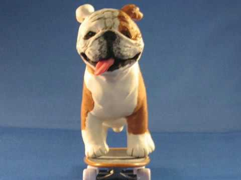 Miniature Skateboarding Bulldog