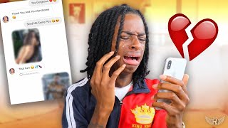 CATFISHING my Girlfriend to see if she cheats.. *Leads To Real Break Up*