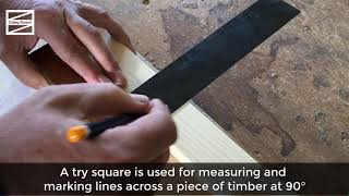 Carpentry: Using a try square