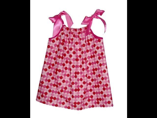 Como hacer un vestido con una funda de almohada para niñas y mamas. fácil, barato