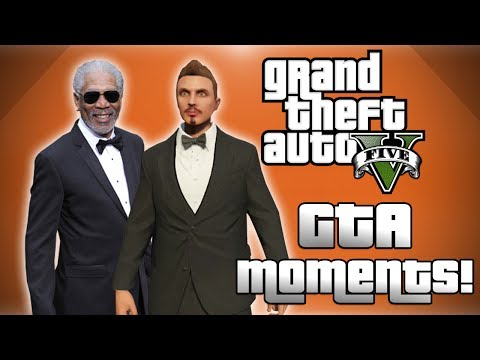 GTA 5 Online Funny Moments! - Morgan Freeman, Stranger Selfie, Basically's Barbecue and More!