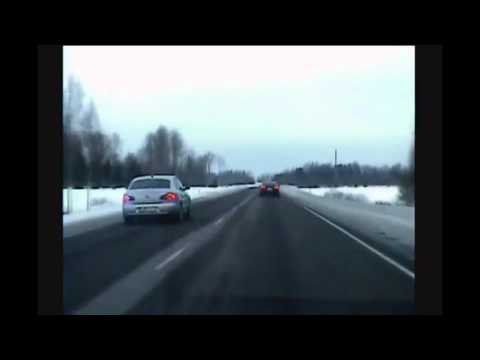 Audi A8 police chase in Estonia [15 February 2013]