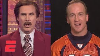 Ron Burgundy Interviews Peyton Manning | SportsCenter | ESPN Archives