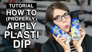 How to apply PlastiDip - Cosplay Tutorial