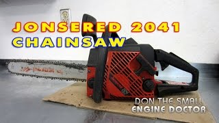 Jonsered 2041 Chainsaw Quick Overview & Test Cut