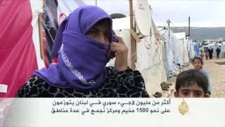 إخلاء مخيم المرج للاجئين السوريين في لبنان