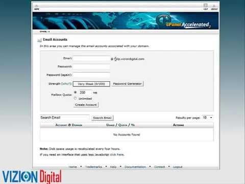 Como Crear Un email Usando Nueastra Cuenta de CPanel