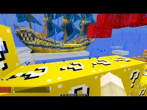 LUCKY BLOCKS SKY PIRATE SHIPS MOD CHALLENGE - MINECRAFT MODDED MINI-GAME!