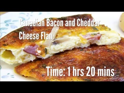 Canadian Bacon and Cheddar Cheese Flan Recipe