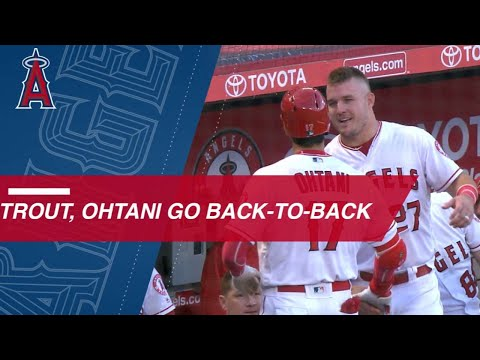 Trout and Ohtani smash back-to-back homers