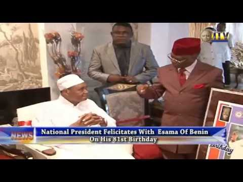 National President PFN Felicitate With Esama Of Benin On His 81st Birthday