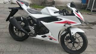 Cận cảnh Suzuki GSX-R150 màu trắng Ngọc Trinh giá 70tr - Mô Tô Nhập Khẩu Mã Lực