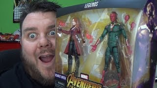 Marvel Legends Scarlet Witch & Vision Avengers Infinity War Toys R Us Exclusive Action Figure Review