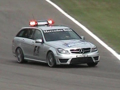 2012 Mercedes C63 AMG Station Wagon - F1 Medical Car - INCREDIBLE LOUD SOUND!!!