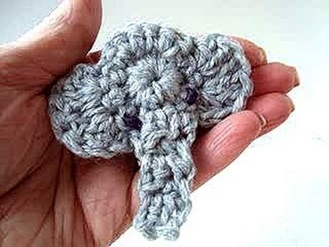 ELEPHANT APPLIQUE, crochet pattern, video tutorial free ...
