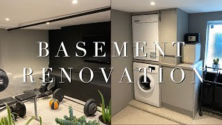 Basement Renovation | Before, During & After