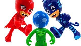 PJ Masks, fun football game with the Romeo team ❤️ RACHAMAN TOY