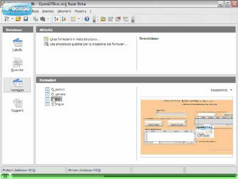 OpenOffice Videotutorial Italiano Parte 6 - Base