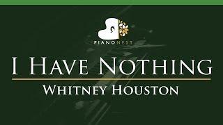 Whitney Houston I Have Nothing Lower Key Piano Karaoke Sing Along