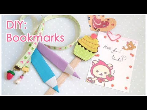 DIY: 6 Different Bookmarks + GIVEAWAY [CLOSED]