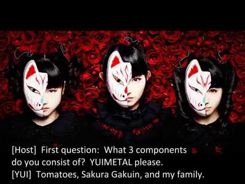 【Exclusive】 BABYMETAL Answer Personal Questions on Japan Radio  (English Sub)