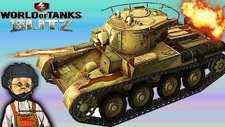 WORLD OF TANKS BLITZ#4 Танковая игра Т-46 набираем опыт. Первые бои.Новое видео для детей