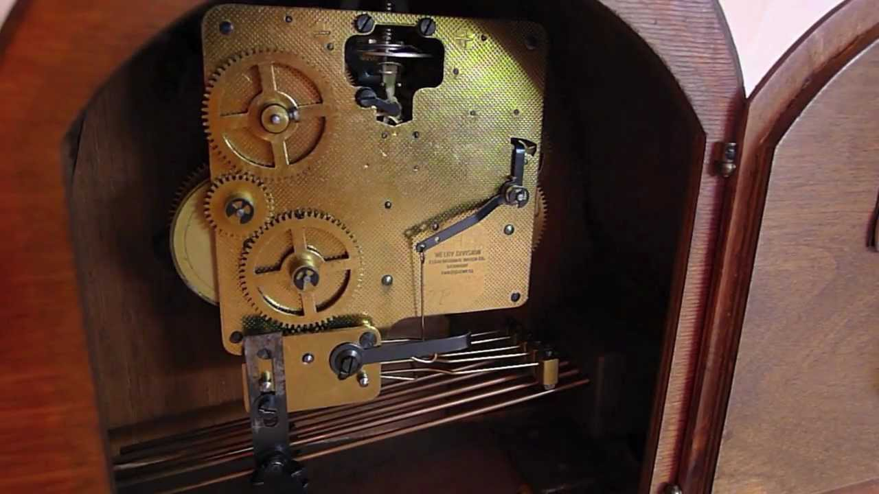 Welby Westminster Chime Clock By Elgin Striking All