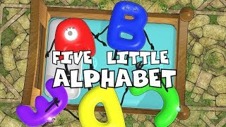 Five Little Alphabet |Nursery Rhymes for Kids | Preschool Songs |kids song|