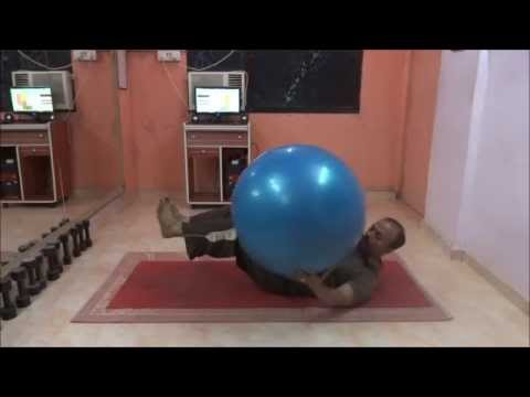 Crunch With Legs Elevated Swissball Oblique Crunch Legs