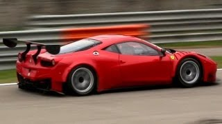 2013 Porsche 997 GT3 R vs. 2013 Ferrari 458 GT3 with LOUD Sounds