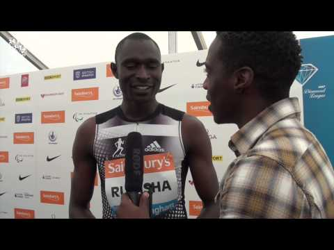 David Rudisha talks about the challenge of pacing a 600m correctly #BirminghamGP