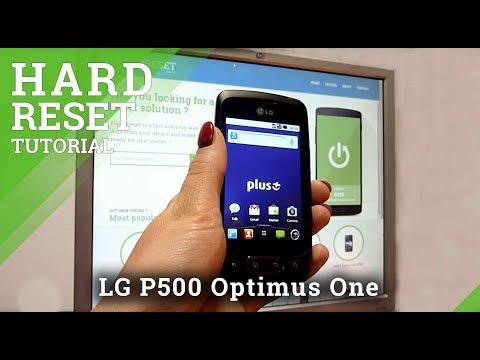 Hard Reset LG P500 Optimus One