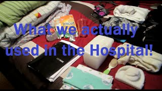 What we actually used from our Hospital Bag! | Our Lives, Our Reasons, Our Sanity