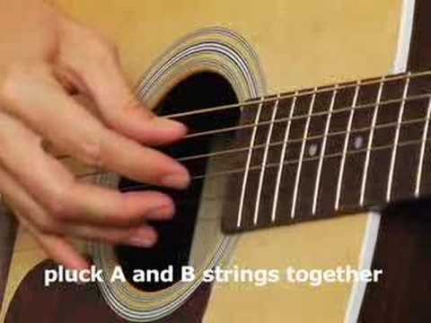 How to play Acoustic Guitar Lesson basic finger picking