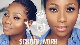 YOU CAN DO THIS IN 15 MINUTES! | EASY EVERYDAY,  SCHOOL/WORK  MAKEUP TUTORIAL | DIMMA UMEH
