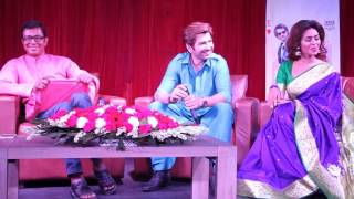 Meet The Press of The Bangla Movie Badshah !!! Jeet!!! Nusrat Faria Mazhar !!!