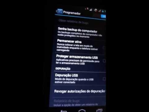 Ativar modo DESENVOLVEDOR/PROGRAMADOR e DEPURAÇÃO USB no Moto G - Android 4.3