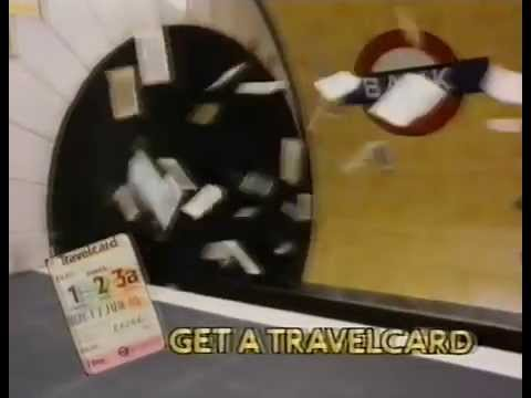 80s and 90s UK Adverts: London Transport Travelcard