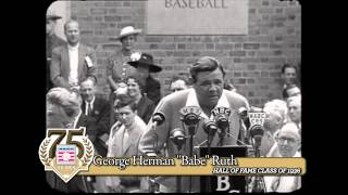 Opening of the Baseball Hall of Fame with Babe Ruth and Cy Young
