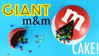 GIANT m&m's Cake | How to Make a Giant Sized m&m | My Cupcake Addiction