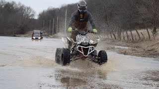 Ice and Water Crossing with ATV's and SXS's!
