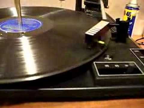 Playing a 78 rpm record on a cheap BSR turntable